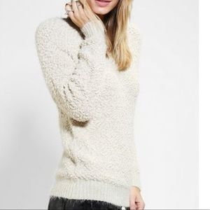 URBAN OUTFITTERS BYCORPUS Off White Cozy Popcorn Sweater Size S